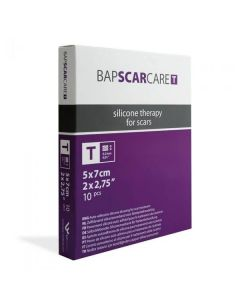 BAPSCARCARE T Silicone Sheet 5cm x 7cm (pack of 10)